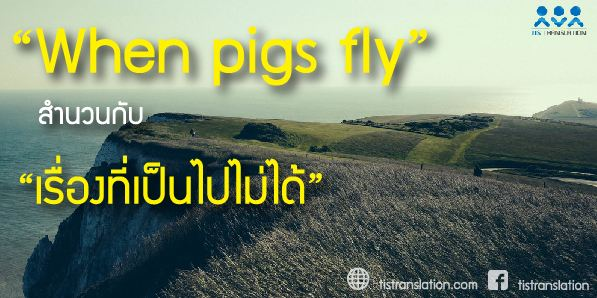When pigs fly สำนวนกับเรื่องที่เป็นไปไม่ได้